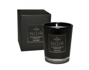 Noir Cedar, Vetiver, Sandalwood, Orange & Clove Small 1 Wick Candle