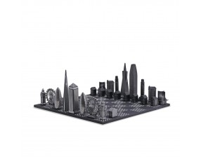 Special Edition Premium Metal San Francisco vs London Edition B/W Wooden Hatch Playing Board