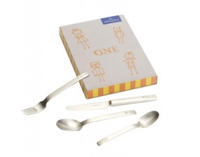 One Children cutlery set 4pcs 21,5x15x2,5cm