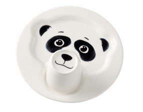 Animal Friends Plate with mug, panda